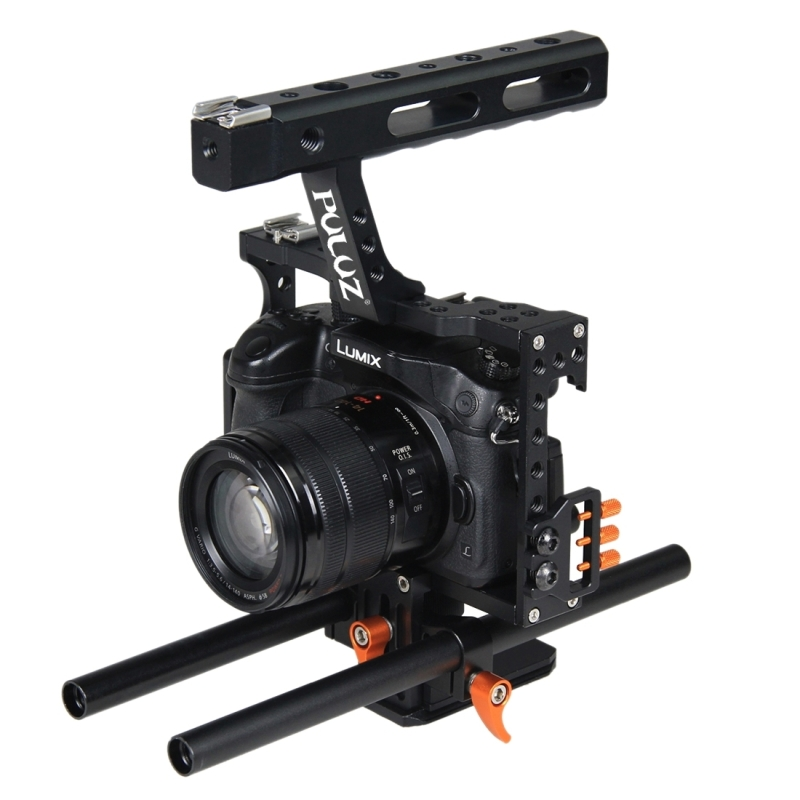 in stock High Quality PAY <strong>10</strong> GET 11 PULUZ Camera Cage <strong>Handle</strong> Stabilizer for Sony A7 & A7S & A7R & A7R II & A7S II, for Panasonic