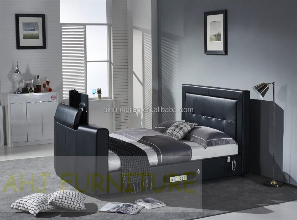 bed with tv in footboard bed mount tv tv bed buy bed. Black Bedroom Furniture Sets. Home Design Ideas