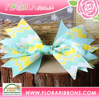Lovely Girls Ribbon Flower Large Metal Hair Clip for Decoration