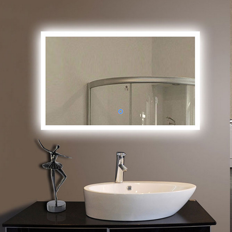 Hotel Rectangle Lighted Bathroom Make Up Smart Mirror With LED Light