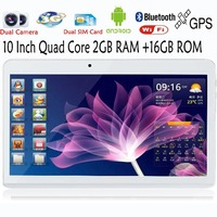 OT 10 Inch Android 4.4 Tablet PC Tabs 3G Phone Call Quad Core MTK6582 2GB 16G GPS Bluetooth Ram Phablet Dual SIM 7 inch phablet