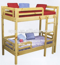 Hot sale indian kids furniture bedroom wood double bed design with box set