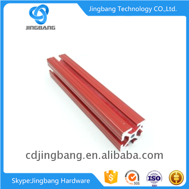 with colored oxide finish Extruding aluminum profile 2020,2040,2060,2080