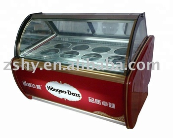 CE Gelato ice cream display freezer