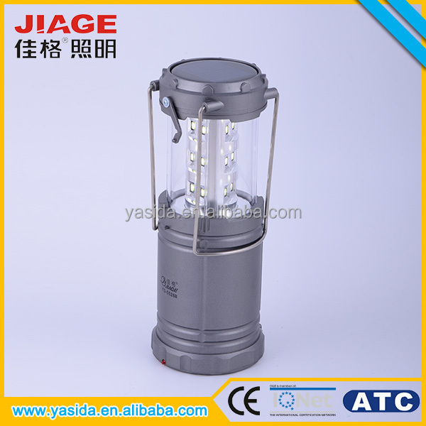Wholesale portable and hanging rechargeable led solar camping lantern
