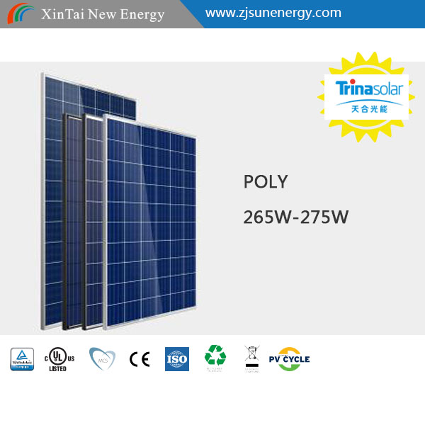 cheap shipping cost 275w trina solar panels for home solar power system