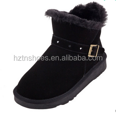 Ladies Fashion Black Warm Boots Shoes Women 2016 Winter Snow Boot