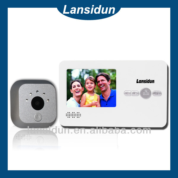 "2.8"" color video door wireless camera peephole monitor"