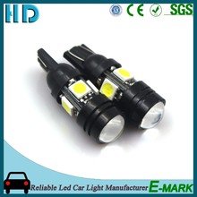 High power T10 W5W 192 194 168 LED Car Light Auto Side Wedge Lamp Bulb 5050 4SMD 1.5w Indicator Light with Lens