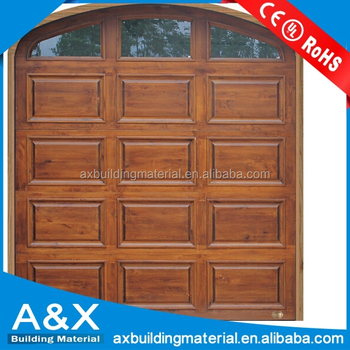 Wonderful European style Solid Wood Garage Door