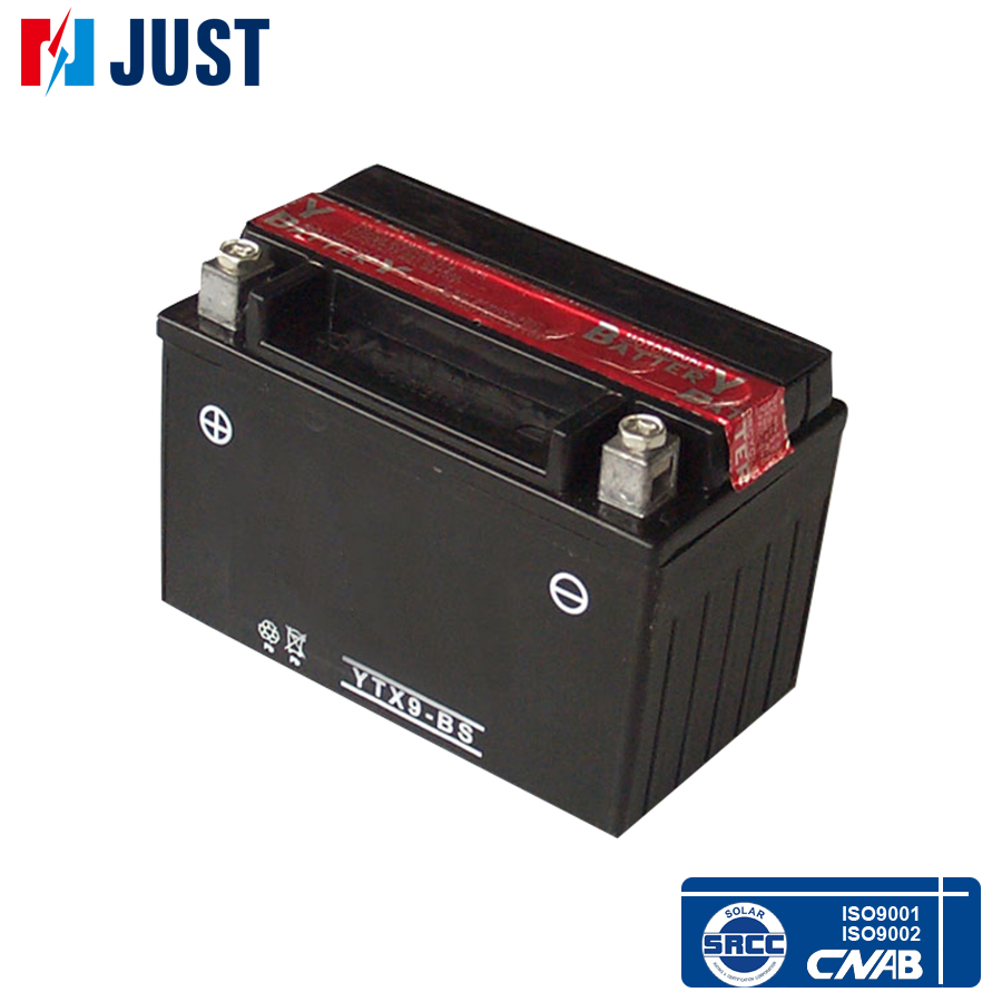 High power 12v 9ah maintenance free lead acid motorcycle battery