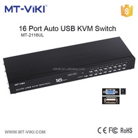 MT-VIKI 16 port auto USB KVM video switch with IR control support 1920*1440 for DVR and on-line games MT-2116UL