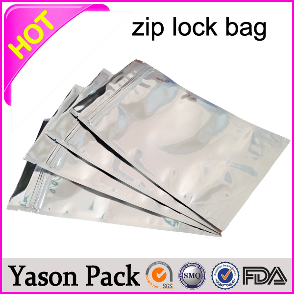 Yason one color printing zip bag stand up zipper bag for snack blue seal foil ziplock packaging bag for spice herbs