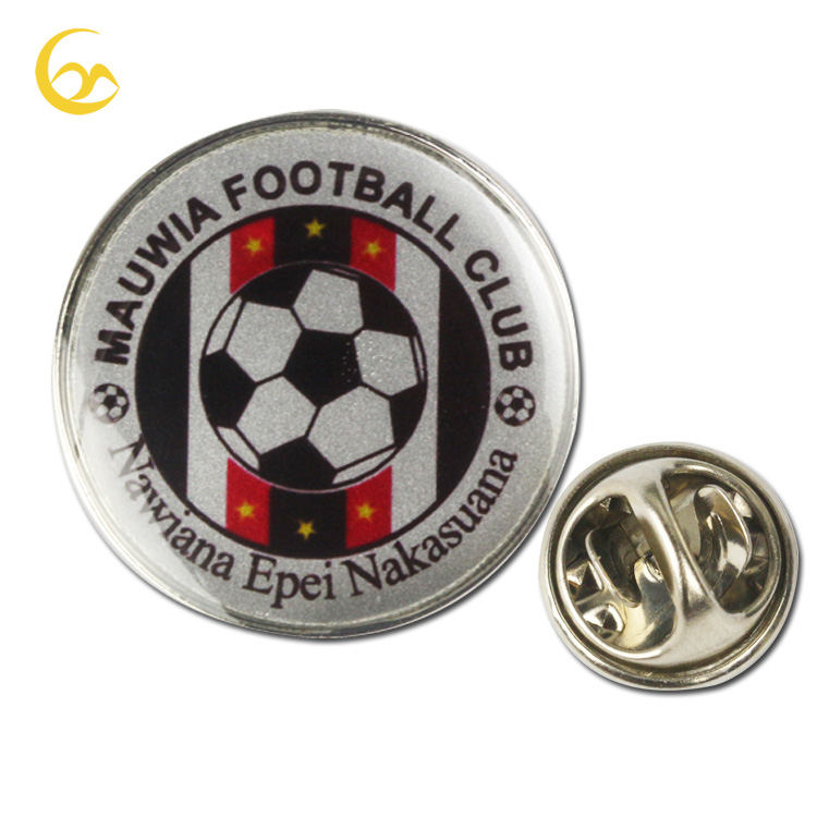 Promotional Gift Bulk Custom Metal Sports Pin Badge Football Lapel Pin With Epoxy Resin