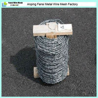 1.6mm high tensile galvanized barb iron wire IOWA with woodern handle