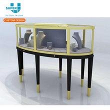 Retail Iron Metal Material Acrylic Countertop Rotating Jewelry Display Stand