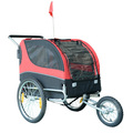 2 IN 1 Pet Dog Bike Trailer Bicycle Trailer Stroller Jogging w/ Suspension