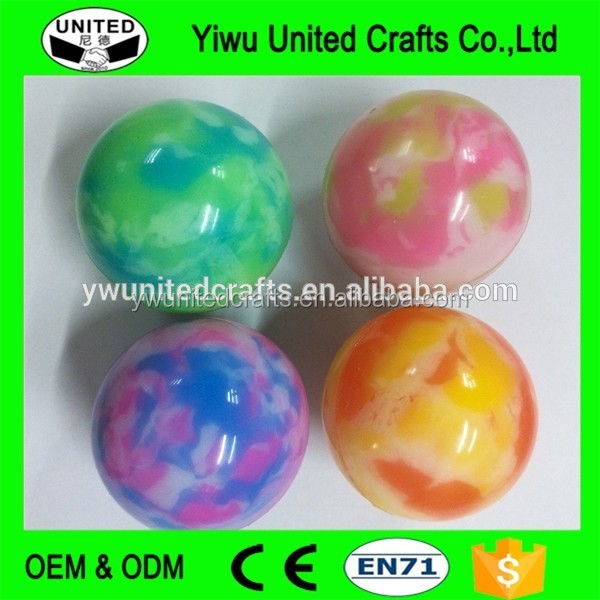 Black Bouncy Balls Toy Hard Rubber Jumping Balls Birthday Gift Bouncy Ball With Handle