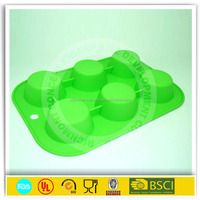 6 cups eco friendly silicone molds for chocolate