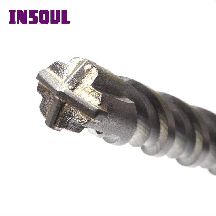INSOUL Best Price Power Tools Cross Tip S4 Flute Type Electric Hammer Drill Bits Concrete Tiles Drilling