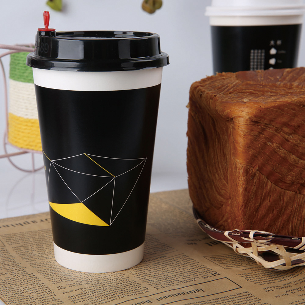 Black disposable coffee sleeve paper cup sleeve