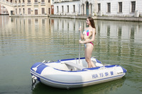 high quality 0.9 hull pvc one person fishing boat