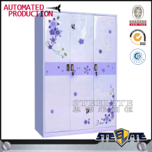 3 door almirah design steel wardrobe lockers cheap kitchen almari