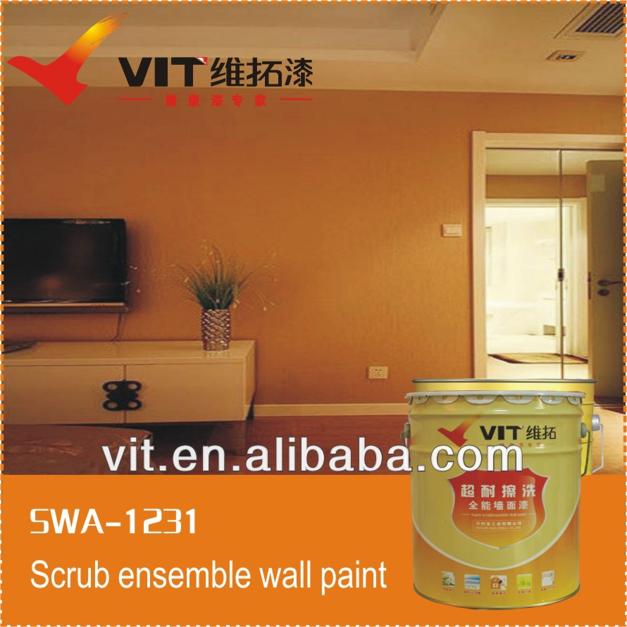 VIT gold weatherability crack resistance exterior wall paint