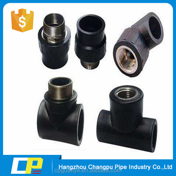 HDPE pipe fitting thread bathroom fitting