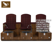 Triple wood manicure pedicure spa chair for nail salon