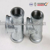 ALL NPT Thread galvanzied iron tee Pipe fitting