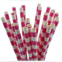 Apple red polka dot and white paper straw for christmas
