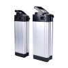 Rechargeable 48 volt 12ah 15ah 20ah lithium battery pack silver fish ebike battery 48v