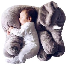 Baby Kids Long Nose Elephant Doll Soft Plush Stuffed Animal Pillow Toys Lumbar Cushion Pillow Elephant Plush Pillow