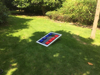 Custom Cornhole set and bean bag toss