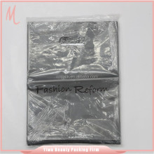 Yiwu die cut shopping hdpe recyclable punch lamination garment plastic bag.handle hard plastic bags