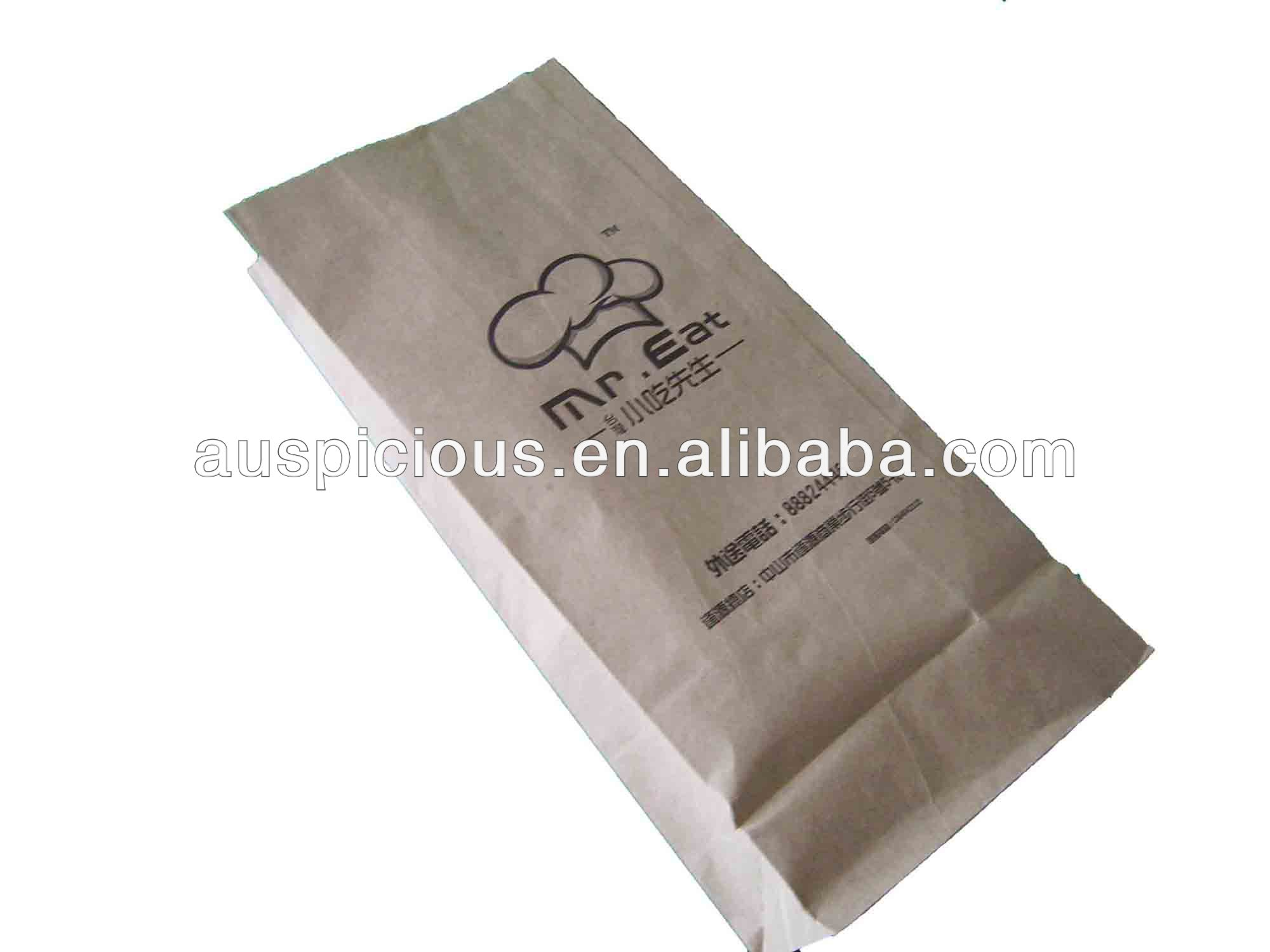 Chef Food kraft paper package bag fried chicken bag