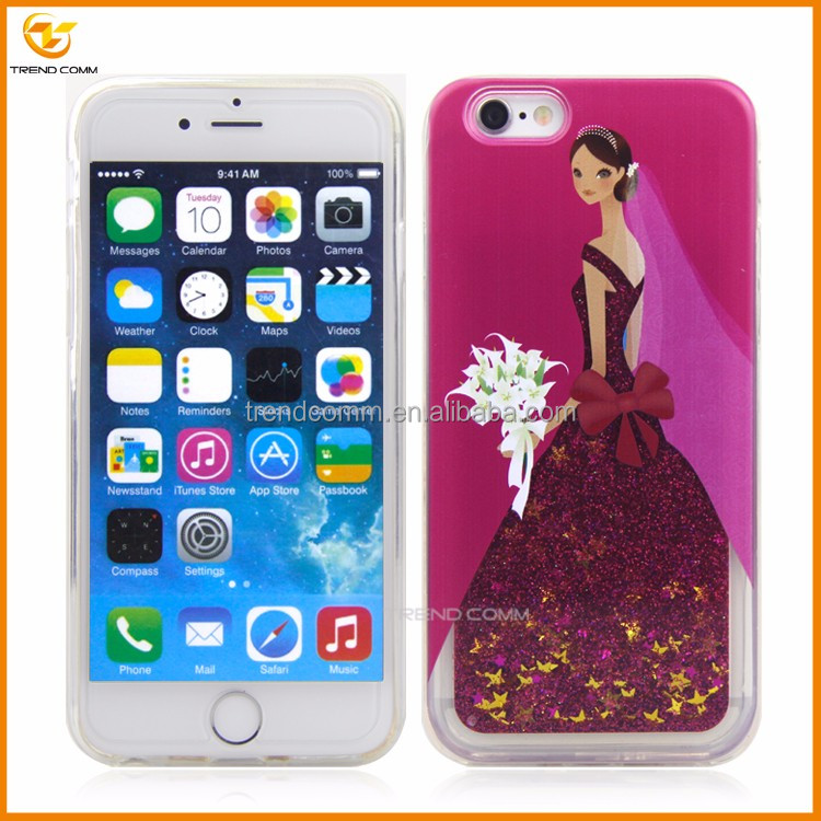 new design dress liquid tpu cover for iphone 6 plus