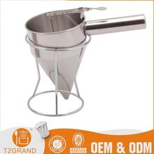 Direct Factory Price Stainless Steel Pouring Funnel With Rack