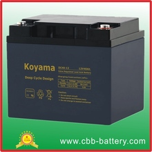 Promotional hottest 12V 40Ah Rechargeable Deep Cycle Battery