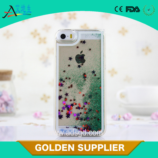 NEW GLITTER STAR LIQUID HARD PC CELL Phone case for IPHONE 6 AND 6PLUS