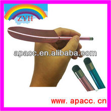 Plastic design, Feather shaped cool touch stylus pen for any touch screen devices