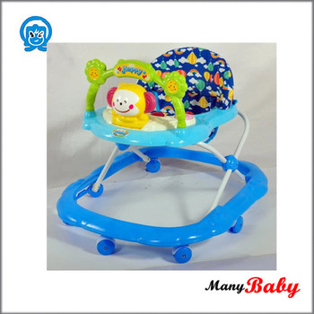Round baby walker, babies push walker with 8 wheels and music, baby carriage low price wholesale