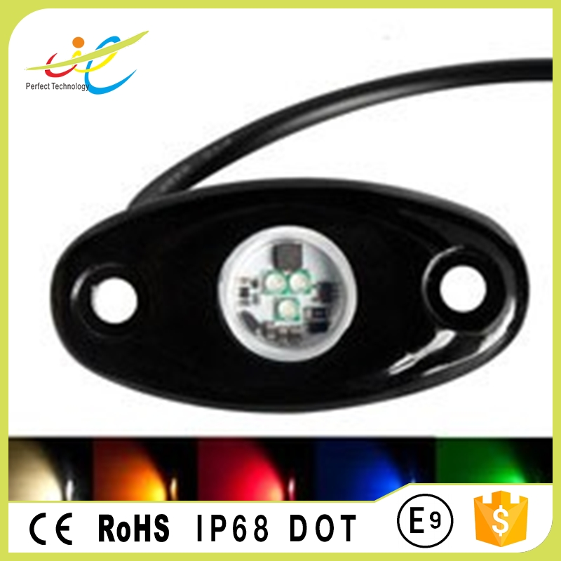 Bluetooth remote control color change rock light led rgb marine boat dock light