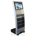 "21.5"" inch Alone Floor standing brochure holder LCD AD video player"