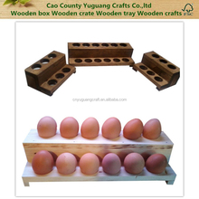 Food Organization Egg Holder, Backyard Chicken Egg Storage Wood Egg Tray,