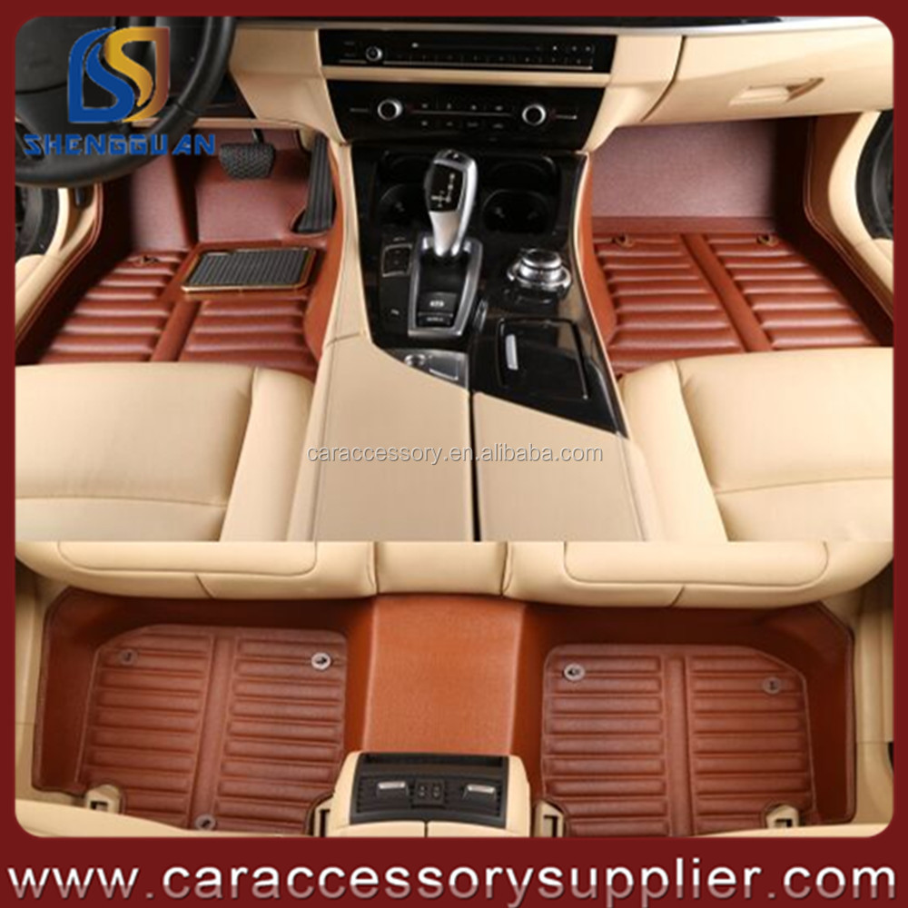 China factory exporter auto accessories PVC leather 3D/5D car floor mat
