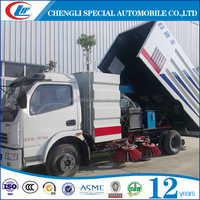 DONGFENG5.5CBM Sweeping Construction Road Vehicle 5CBM Dirty Suction Sweeper Truck For Sale