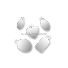 925 Silver customized logo tag