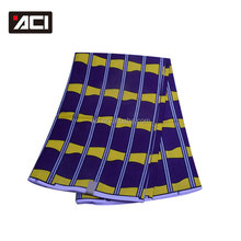 ACI-SHAOXING Direct Selling High Class Pattern Cotton Real Wax Fabric 6 Yards/Piece Guaranteed Real Wax For Women Dress